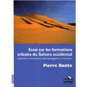 Essai sur les formations tribales du Sahara occidental